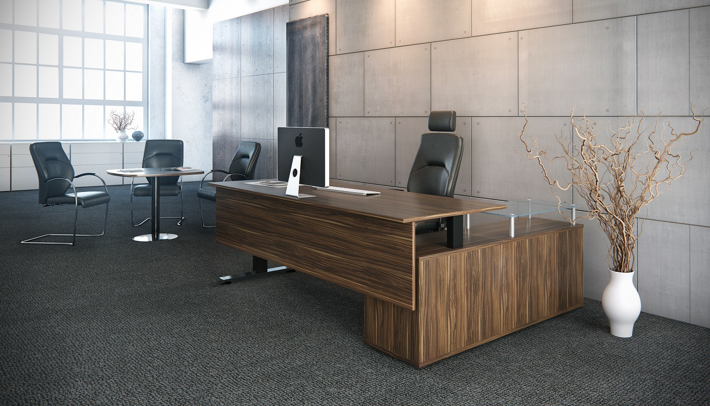 Standing Desks Executive Stand Up Desk: AL -Sit Stand Executive Desk With Return Or Fixed Height
